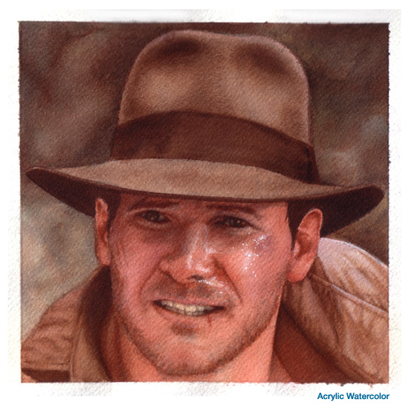 Indiana Jones watercolor